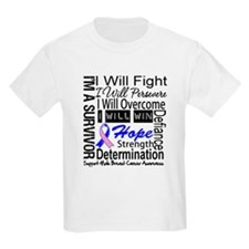 Male Breast Cancer Persevere T-Shirt