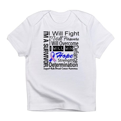 Male Breast Cancer Persevere Infant T-Shirt