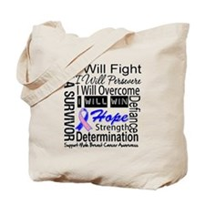 Male Breast Cancer Persevere Tote Bag