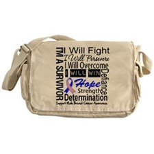 Male Breast Cancer Persevere Messenger Bag