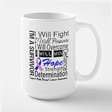 Male Breast Cancer Persevere Mug