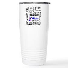 Male Breast Cancer Persevere Travel Mug