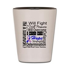 Male Breast Cancer Persevere Shot Glass