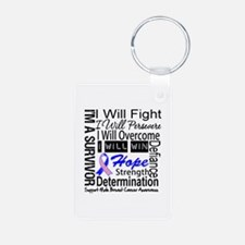 Male Breast Cancer Persevere Keychains