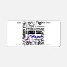 Male Breast Cancer Persevere Aluminum License Plat