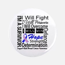 """Male Breast Cancer Persevere 3.5"""" Button (100 pack"""