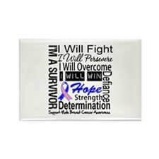 Male Breast Cancer Persevere Rectangle Magnet