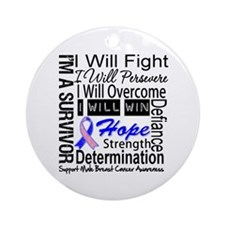 Male Breast Cancer Persevere Ornament (Round)
