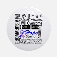 Male Breast Cancer Persevere Ornament (Round)