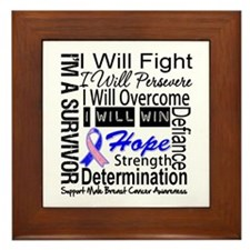 Male Breast Cancer Persevere Framed Tile