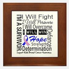 Male Breast Cancer Persevere Framed Tile