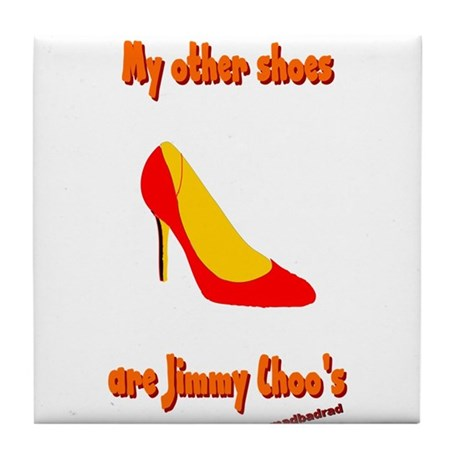 Other Shoes Jimmy Choos 6000.png Tile Coaster