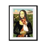 Mona Lisa - Basenji #1 Framed Panel Print