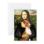 Mona Lisa - Basenji #1 Greeting Cards (Pk of 10)