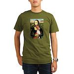 Mona Lisa - Basenji #1 Organic Men's T-Shirt (dark