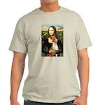 Mona Lisa - Basenji #1 Light T-Shirt