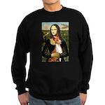 Mona Lisa - Basenji #1 Sweatshirt (dark)