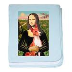 Mona Lisa - Basenji #1 baby blanket