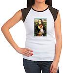 Mona Lisa - Basenji #1 Women's Cap Sleeve T-Shirt