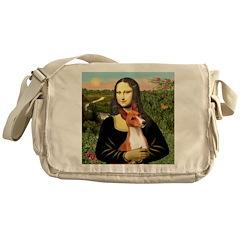 Mona Lisa - Basenji #1 Messenger Bag