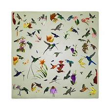 Hummingbirds of the Americas Queen Duvet