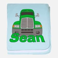 Trucker Sean baby blanket