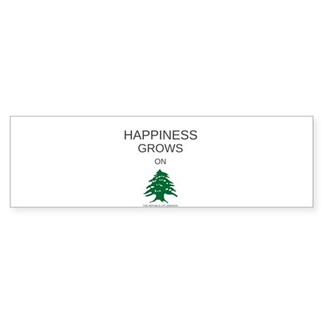 HAPPINESS GROWS ON TREES Sticker (Bumper)