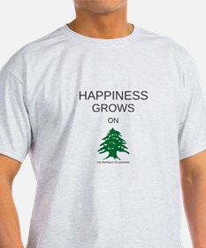 HAPPINESS GROWS ON TREES T-Shirt