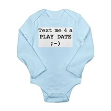text me play10.eps Long Sleeve Infant Bodysuit
