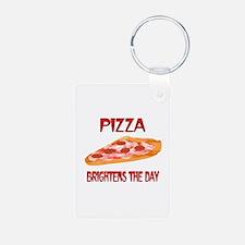 Pizza Brightens Keychains