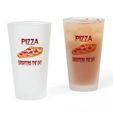 Pizza Brightens Drinking Glass