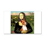 Mona Lisa - Basenji #1 Car Magnet 20 x 12