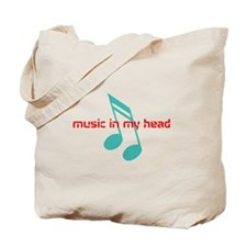 Music in my head Tote Bag