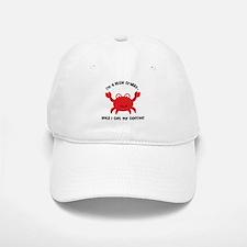 Crabby Until I get my Coffee Baseball Baseball Cap