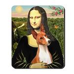 Mona Lisa - Basenji #1 Mousepad