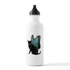 Butterfly Cat Sports Water Bottle