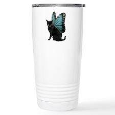 Butterfly Cat Travel Mug