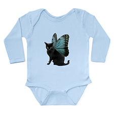 Butterfly Cat Long Sleeve Infant Bodysuit