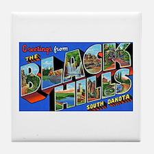 Black Hills South Dakota Tile Coaster