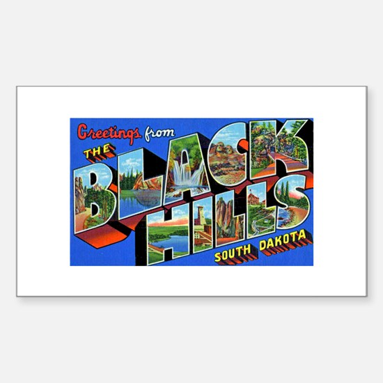 Black Hills South Dakota Rectangle Decal