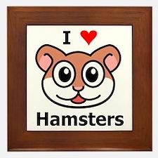 I Love Hamsters Framed Tile