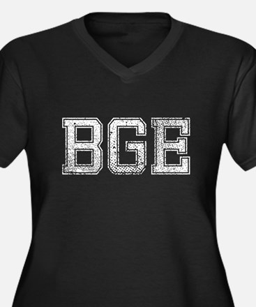 BGE, Vintage, Women's Plus Size V-Neck Dark T-Shir