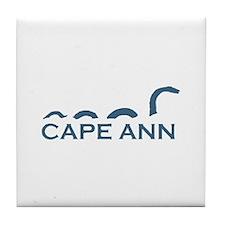 Cape Ann - Sea Serpent Design. Tile Coaster