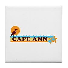 Cape Ann - Beach Design. Tile Coaster