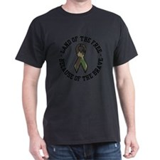 Land of the Free Camo Ribbon T-Shirt