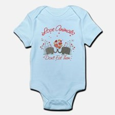 Love Animals Dont Eat Them Infant Bodysuit