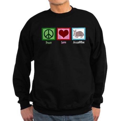 Peace Love Armadillos Sweatshirt (dark)