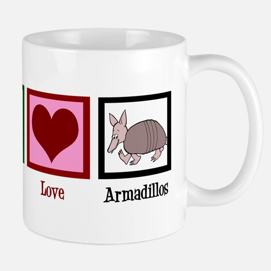 Peace Love Armadillos Mug