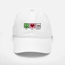 Peace Love Armadillos Baseball Baseball Cap