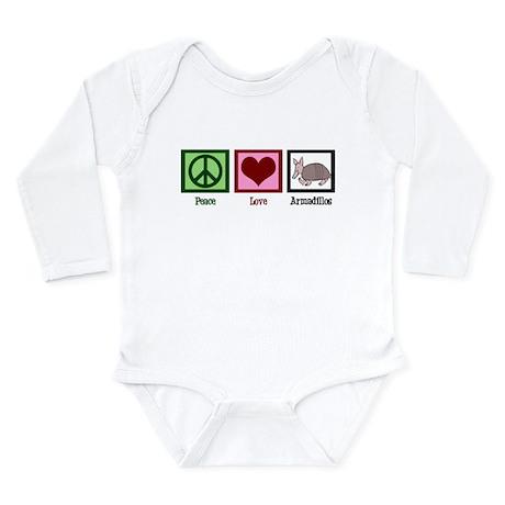 Peace Love Armadillos Long Sleeve Infant Bodysuit
